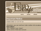 Euro Cafe website